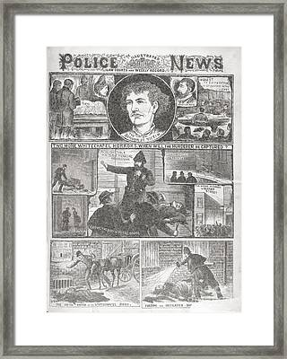 Jack The Ripper Murders, 1888 Framed Print by British Library