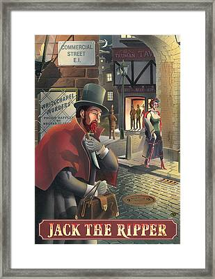 Jack The Ripper Framed Print by Peter Green