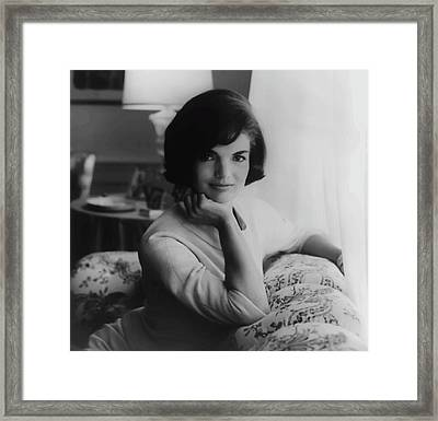 Jackie Kennedy  1961 Framed Print by Daniel Hagerman