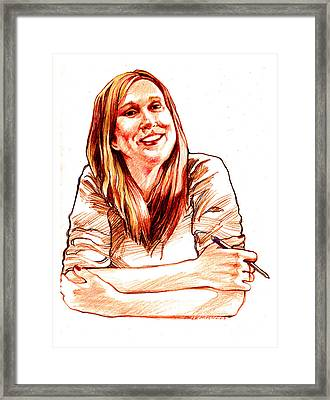 Jackie Lebel Framed Print by Dale Michels
