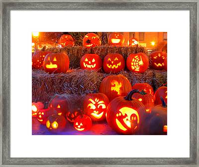 Jacko'lanterns Framed Print by Suzanne DeGeorge