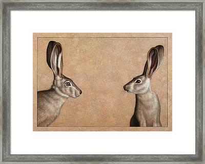 Jackrabbits Framed Print by James W Johnson