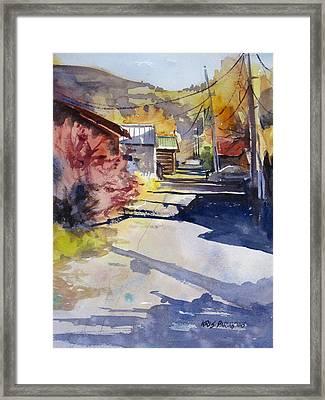 Jackson Alley Framed Print by Kris Parins