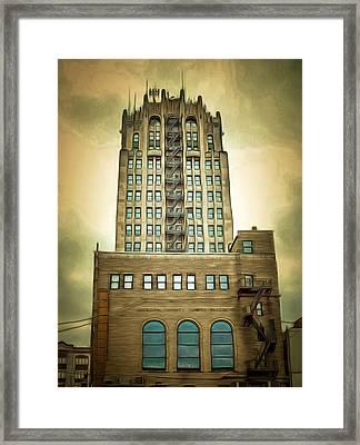 Jackson County Tower Framed Print by MJ Olsen