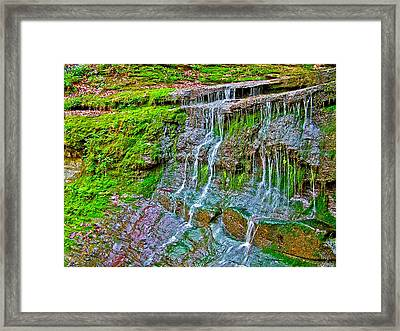 Jackson Falls At Mile 405 Natchez Trace Parkway-tennessee Framed Print by Ruth Hager