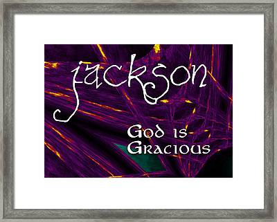 Jackson - God Is Gracious Framed Print by Christopher Gaston