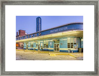 Jackson Greyhound Bus Station IIi Framed Print by Clarence Holmes