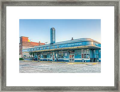 Jackson Greyhound Bus Station V Framed Print by Clarence Holmes