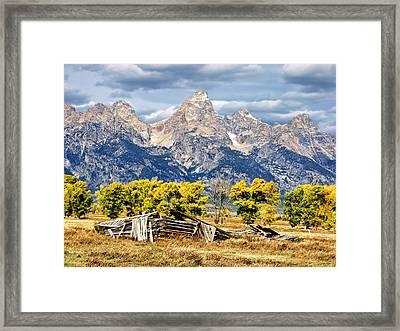 Jackson Hole Framed Print by Kathleen Bishop