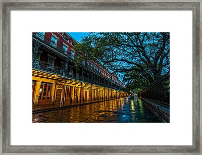 Jackson Square At Dawn Framed Print by Andy Crawford