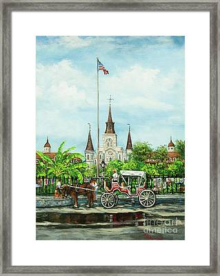 Jackson Square Carriage Framed Print by Dianne Parks