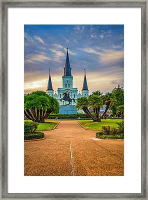 Jackson Square Cathedral Framed Print by Steve Harrington