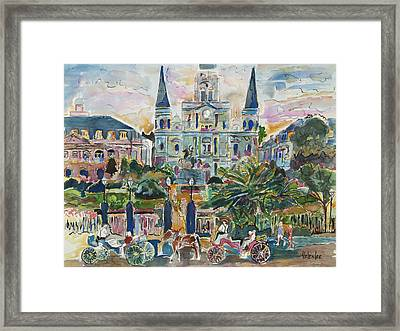 Jackson Square Framed Print by Helen Lee