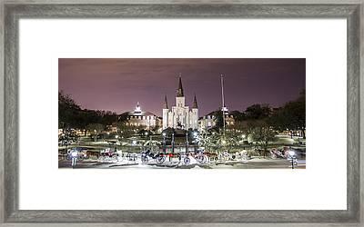 Jackson Square Panoramic  Framed Print by John McGraw