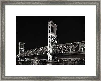 Jacksonville Florida Main Street Bridge Framed Print by Christine Till