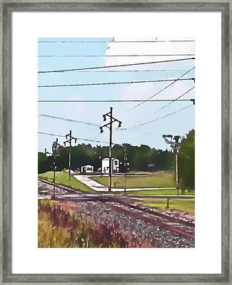 Jacksonville Il Rail Crossing 3 Framed Print by Jeff Iverson