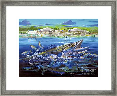 Jacksonville Kingfish Off0088 Framed Print by Carey Chen