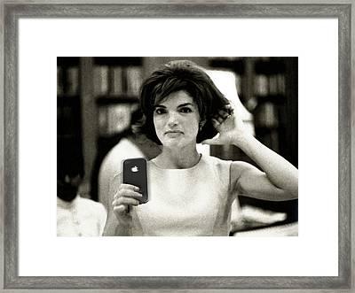 Jacky Kennedy Takes A Selfie Framed Print by Tony Rubino