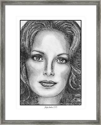 Jaclyn Smith In 1976 Framed Print by J McCombie