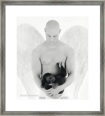 Jacob Holding Khaleah Framed Print by Anne Geddes
