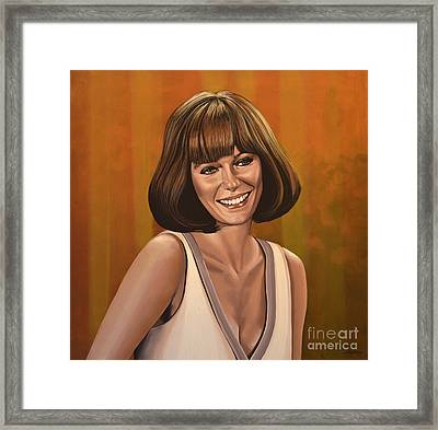 Jacqueline Bisset Painting Framed Print by Paul Meijering