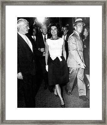 Jacqueline Kennedy Doesn't Need A Red Carpet Framed Print by Retro Images Archive