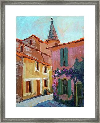 Jacques House Framed Print by Diane McClary