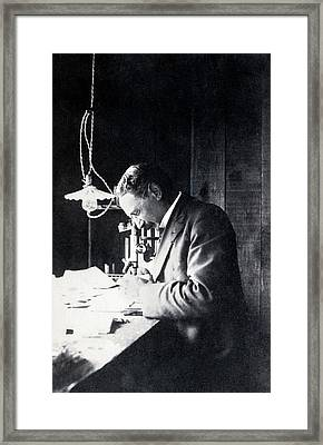 Jacques Loeb Framed Print by American Philosophical Society