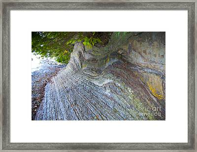 Jagged Rock Framed Print by Graham Foulkes