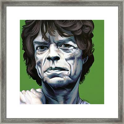 Jagger Framed Print by Kelly Jade King