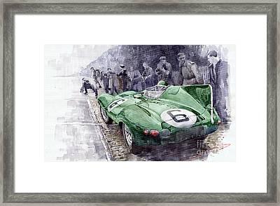 Jaguar D-type  1955 Le Mans  Framed Print by Yuriy Shevchuk
