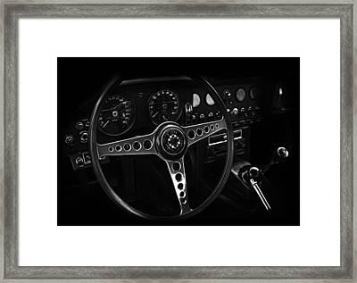 Jaguar E Type Interior Framed Print by Mark Rogan