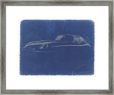 Jaguar E Type Framed Print by Naxart Studio