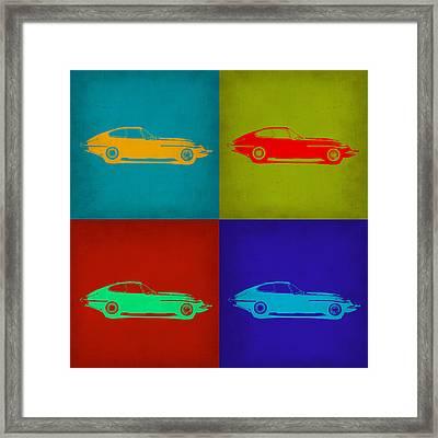 Jaguar E Type Pop Art 1 Framed Print by Naxart Studio