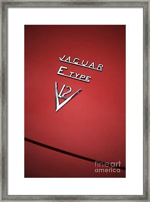 Jaguar E Type V12 Abstract Framed Print by Tim Gainey