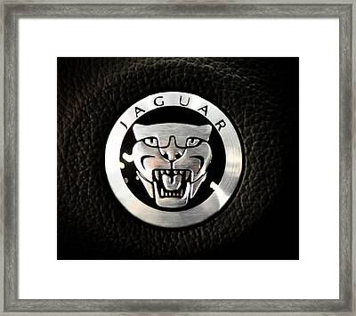Jaguar Logo Framed Print by Ronda Broatch