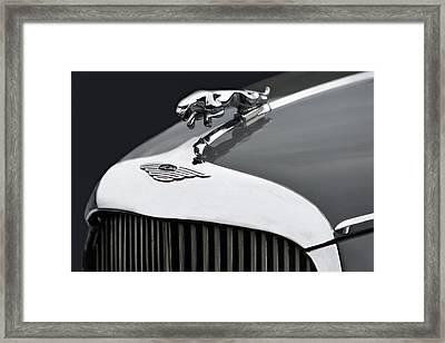 Jaguar Mk Ix Hood Framed Print by Susan Candelario