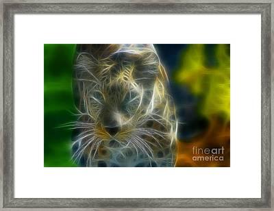 Jaguar208-fractal Framed Print by Gary Gingrich Galleries