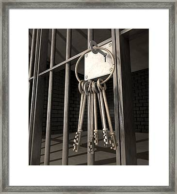Jail Cell Blues Framed Print by Allan Swart