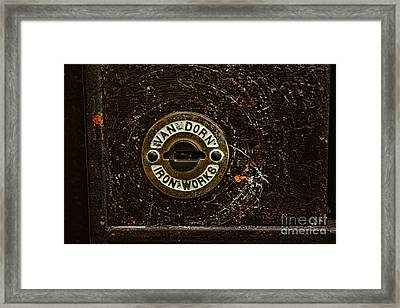 Jail Cell Door Lock Close Up Framed Print by Paul Ward