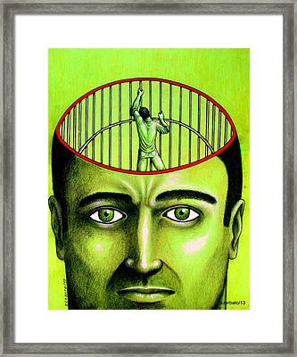 Jailer Of The Your Own Prison Framed Print by Paulo Zerbato