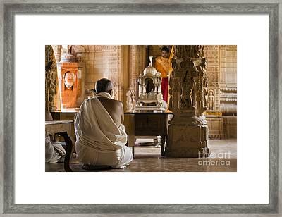 Jain Temple Jaisalmer India Framed Print by Craig Lovell