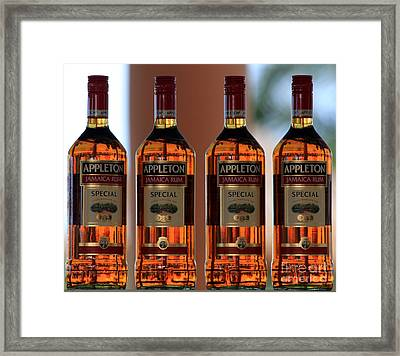Jamaican Rum Dark Framed Print by Marjorie Imbeau