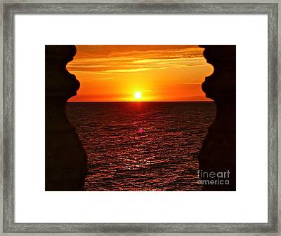 Jamaican Sunset 2 Framed Print by Linda Bianic