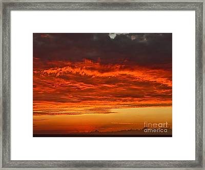 Jamaican Sunset Framed Print by Linda Bianic