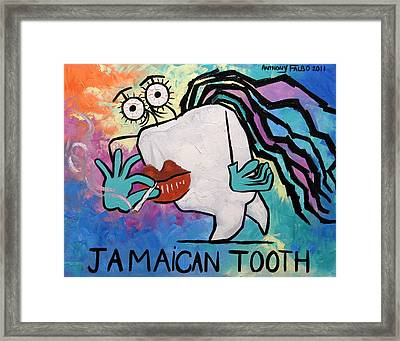 Jamaican Tooth Framed Print by Anthony Falbo