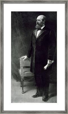 James A Garfield Framed Print by Eliphalet Frazer Andrews