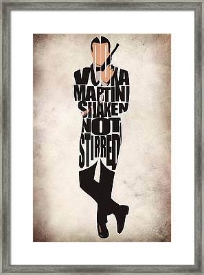 James Bond Framed Print by Ayse Deniz