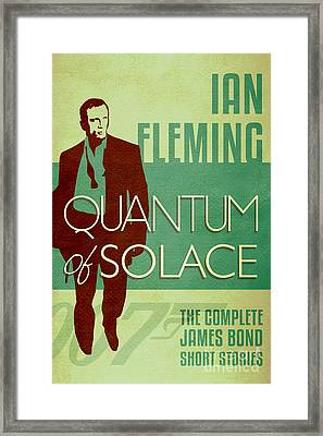 James Bond Book Cover Movie Poster Art 2 Framed Print by Nishanth Gopinathan
