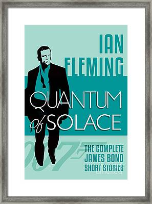 James Bond Book Cover Movie Poster Art 5 Framed Print by Nishanth Gopinathan
